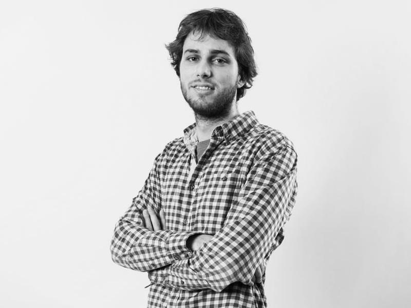 """David Holoubek <span class=""""pracPozice"""">technik testování</span>"""