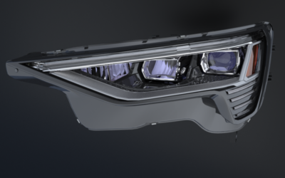 První FULL LED světlomet pro elektromobil Audi e-tron